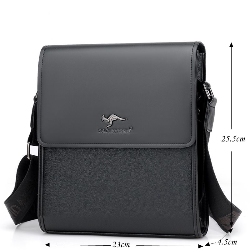 dda023274986 Aliexpress.com   Buy Fashion Kangaroo Men Shoulder Bags Brand Laptop Men Messenger  Bags Vintage Men Leather Crossbody Bags Solid Male Bolsas M048 from ...