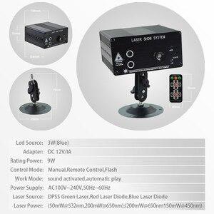 Image 2 - Atotalof LED RGB Luz de escenario 48 patrón remoto/sonido DJ Disco luz para KTV fiesta en casa Proyector láser de Navidad luz