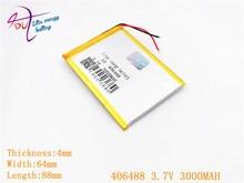 سلامة التعبئة مكافحة ساكنة Shelding حقيبة 406488 3.7 V 3000 MAH 406590 ليثيوم أيون اللوحي البطارية ل 7,8 ، 9 بوصة بوليمر lithiumion