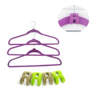 Image 5 - Creative 1 Pc Mini Flocking Hooks สำหรับแขวนเสื้อผ้าตู้เสื้อผ้าแบบพกพาสี Travel เสื้อผ้าตะขอแขวน #20