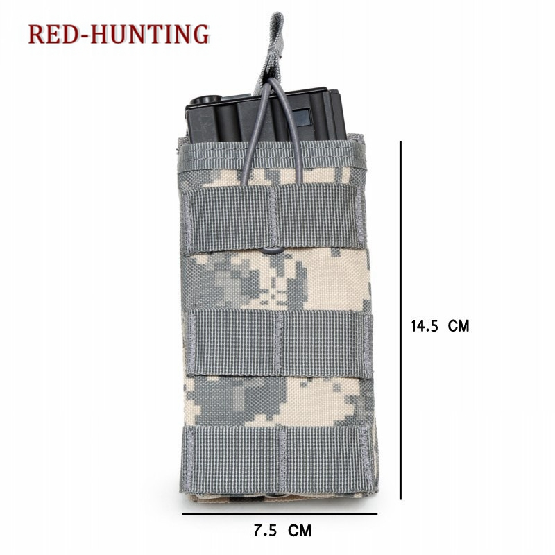 Tactical Single M4/M16 Open Top Mag Pouch Color Hunting Bag Molle Nylon Waist Pack