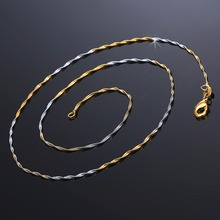 Фотография 2mm Silver Gold Rope Chain Necklace Fit For Pendant Charm For Women Men Rope Jewelry Findings