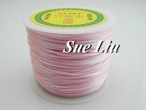 100yds 2mm Lt Pink Rattail Satin Cord Chinese Knot Beading Cord: Nylon NCN6S