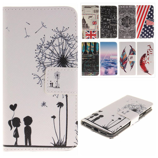 For Samsung J5 Leather Case Fashion Drawed Protective Flip Stand Card Slot Wallet Cover For Samsung Galaxy J5 SM-J500F Phone Bag
