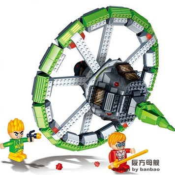 Banbao 6405 Space Series Circular Spaceship Shuttle 512pcs Plastic Building Block Sets Educational DIY Bricks Toys hot sale 1000g dynamic amazing diy educational toys no mess indoor magic play sand children toys mars space sand