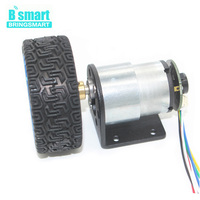 Wholesale JGB37 520 Gear Motor 12V With Encoder Mounting Bracket Coupling And Car Wheel For Toy
