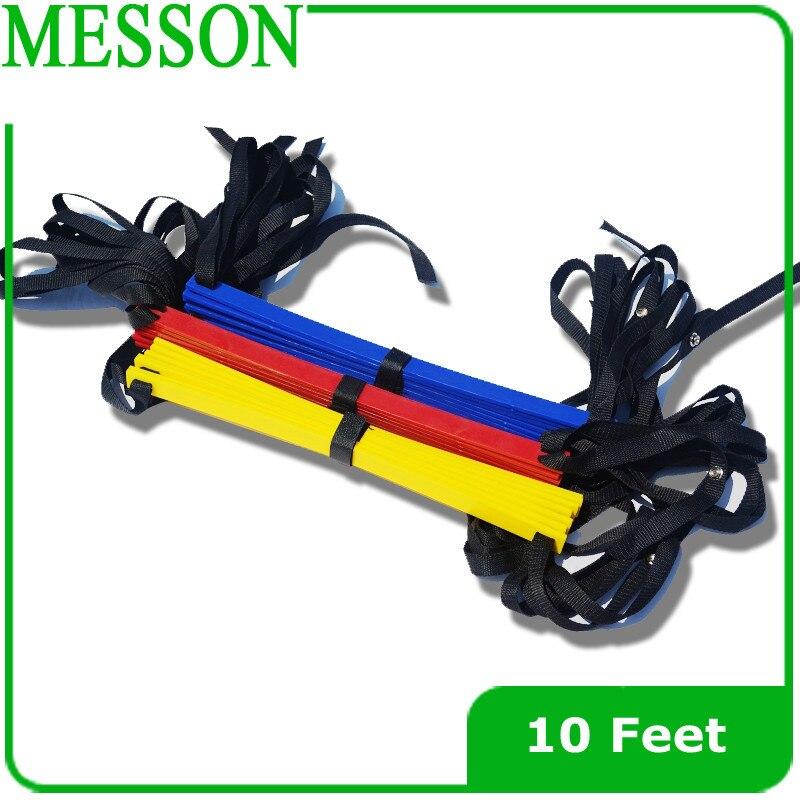MESSON 10 Feet Agility Speed ladder Soccer Training ladder Quick Flat Rung Speed Ladder (1pc )
