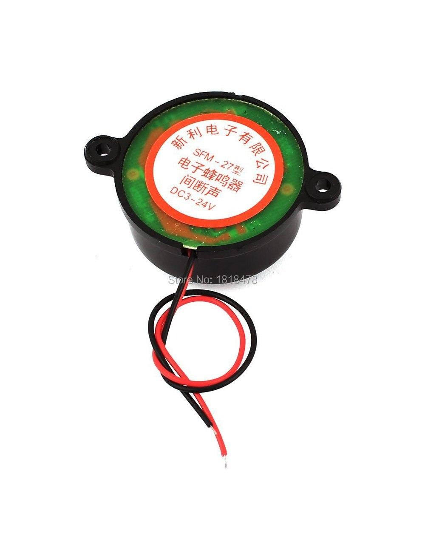 Black Piezo Electronic Alarm Discontinuity Sound Buzzer Beeper DC3-24V AC220V