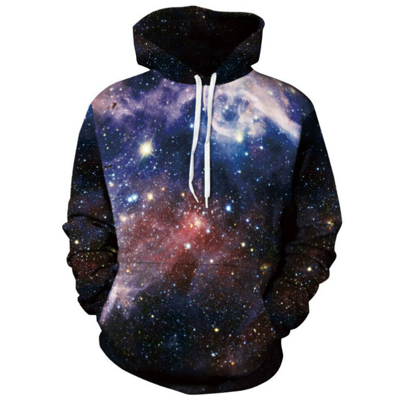 2017 New Harajuku Galaxy Hooded Clothes Unisex All Over 3D Print Hoodie Punk Women Men Sweatshirts Hoodies Outfits Casual Sweats