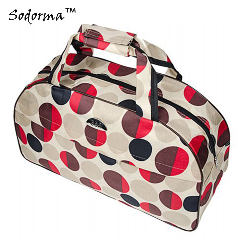 Multiple patterns Oxford fabric womens Portable travel bag mens duffel bag luggage bag handbag zipper closure OEM size L and S
