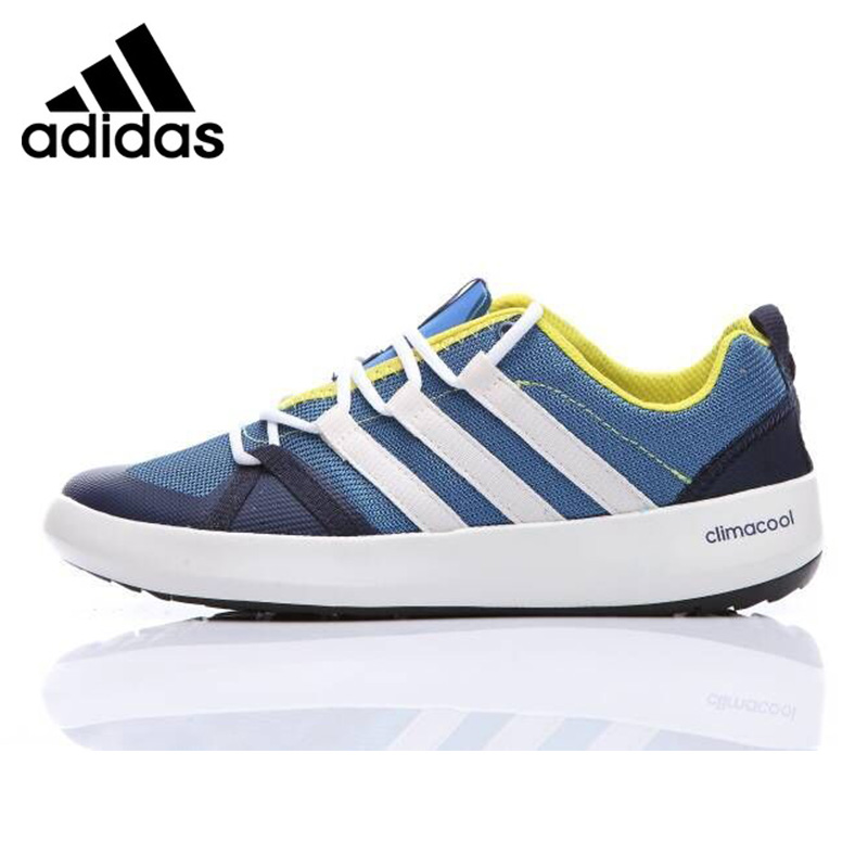 big sale f7cbf c1d41 US $90.22 30% OFF|Adidas TERREX CC BOAT Men's Running Shoes Blue Non slip  Sweat absorben Quick drying BB1908 EUR Size M-in Running Shoes from Sports  & ...