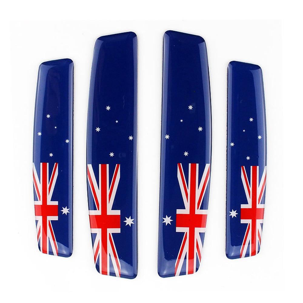 Австралийский флаг двери автомобиля боковой край защитные наклейки для Toyota Corolla Mazda Axela hyundai I30 Ford Ranger Holden Commodore