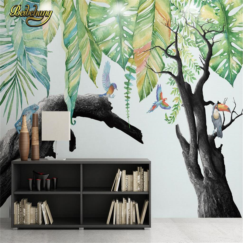 beibehang Rainforest papel de parede 3D Mural Wallpaper Home Decor Background Photo Landscape Wall paper Mural for Living Room beibehang beach papel de parede mural wallpaper for living room bedroom sofa background wall paper photo wallpaper for walls 3 d
