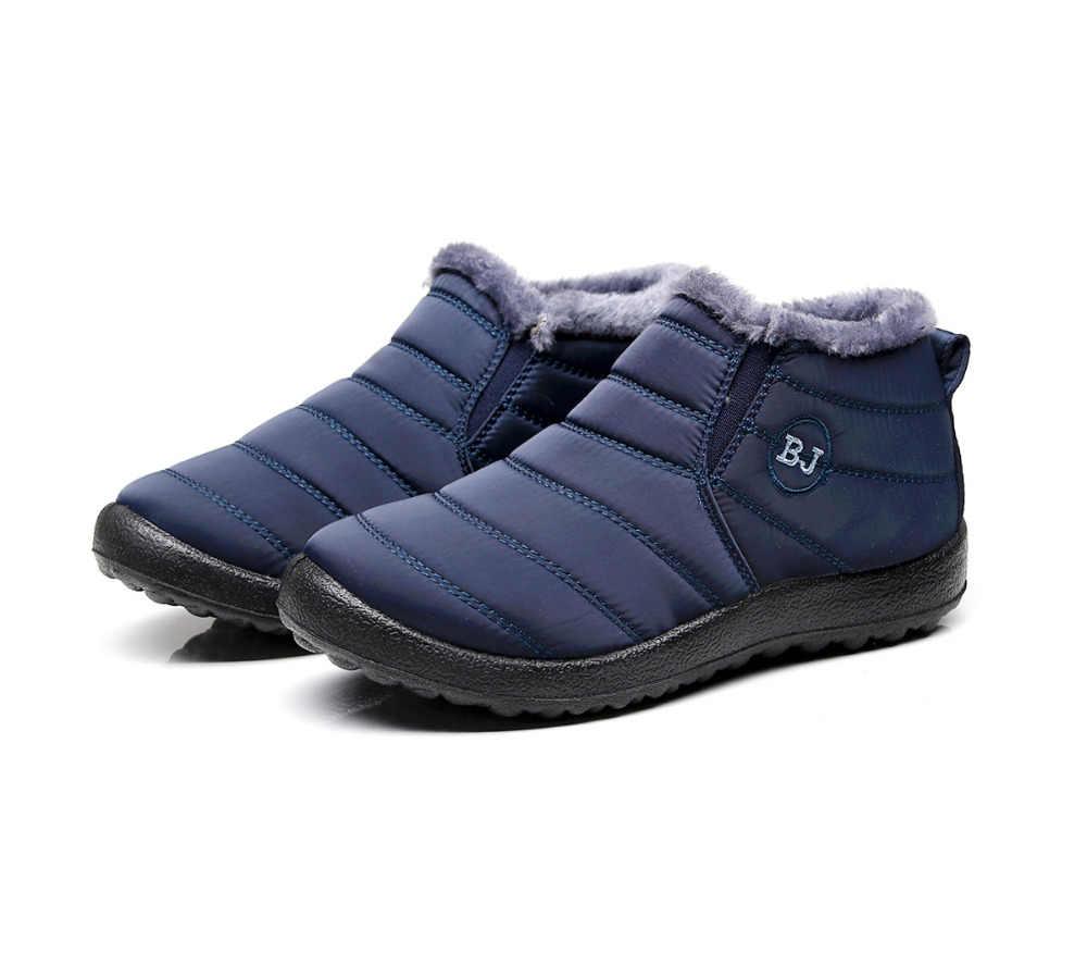2019 แฟชั่นผู้ชายฤดูหนาวรองเท้าสีหิมะรองเท้าบูท Plush ภายในด้านล่าง Antiskid อุ่นรองเท้าสกีกันน้ำขนาด 35 -46