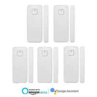 5pcs WiFi Door Window Sensor Open Reminder Sensor Detector Wireless Window Door Entry Burglar Alarm Security