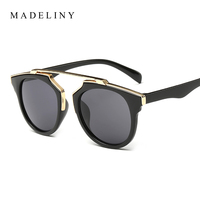 2015 Newest Candy Color Sunglasses Point Decoration So Real Women Sunglasses Round Vintage Reflective Coating Mirror