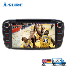 "A-Sure 7"" 2 din Car DVD Player GPS For FORD FOCUS 2 Mondeo Kuga S-MAX Connect Galaxy 2008 2009 2010 2011 Radio DVD CD SWC 3G BT"