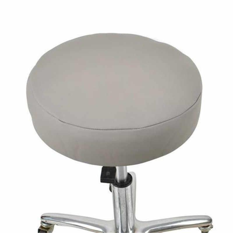 33 см чехлы на стулья 1 шт. круглый обеденный стол накладка на стул эластичная искусственная кожа Водонепроницаемый дом, офис, бар табурет сиденье Чехол
