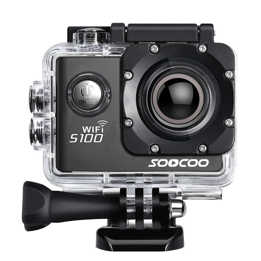 SOOCOO S100 Action Camera 4K WiFi Sports DV Full HD 1080P Gyro 30m Waterproof Diving Mini Camcorder 2.0 inch Sport Cam NTK96660 amk7000s camera 1080p hd action digital camera 2 0 lcd 4k wifi sport dv video photo camera 20mp waterproof 40m mini camcorder