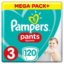 Трусики Pampers Pants 6-11кг, размер 3, 120 шт.
