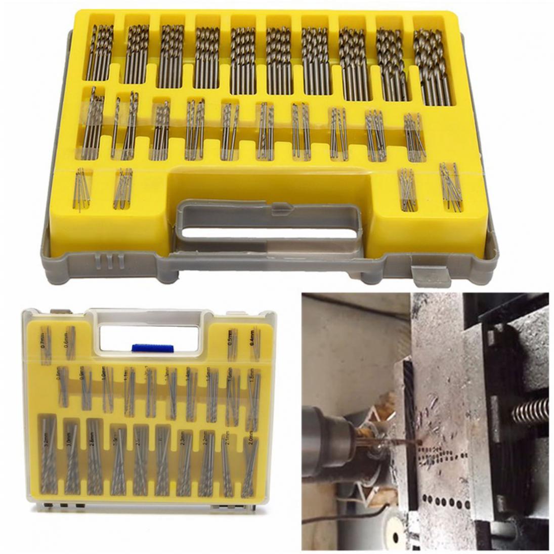 Portable Mini Small Tool kit 150pcs  0.4mm-3.175mm HSS Material Power Rotary Micro Twist Precision Drill Bit Set new 10pcs jobbers mini micro hss twist drill bits 0 5 3mm for wood pcb presses drilling dremel rotary tools
