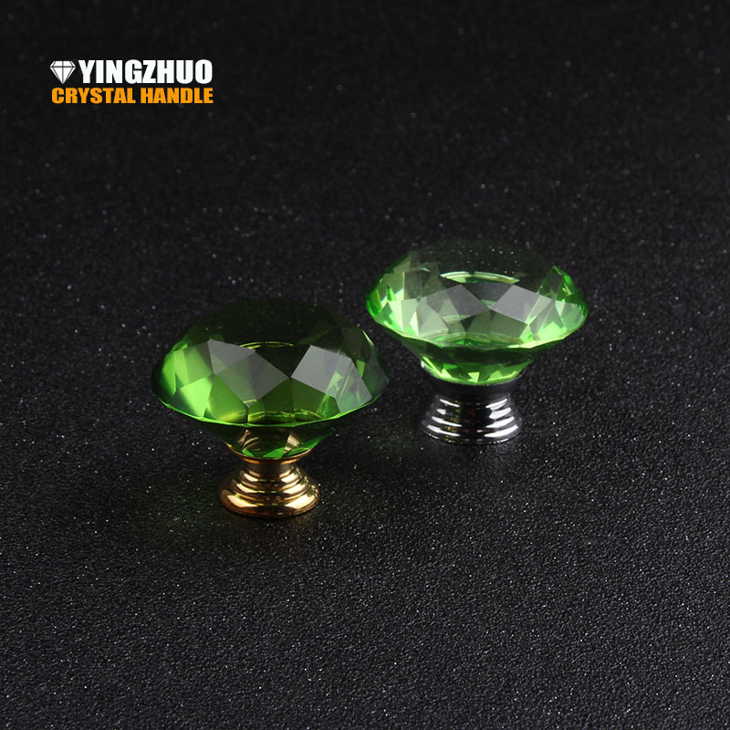 40mm 10pcs No Formaldehyde Green Ecological Decoration Furniture Accessories Drawer Cupboard Knob Crystal Glass Cabinet Handle rudi hilmanto local ecological knowledge