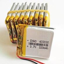 10 шт. 3,7 В 320 мАч 403030 литий-полимерный Li-Po аккумулятор для Mp3 GPS bluetooth наушников смарт часы 4*30*30 мм