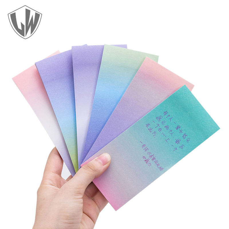 Gradient color Memo Pad Stationery Note Sticker Imagination Sticky Notes School Office Supplies Planner Post it Self-adhesive