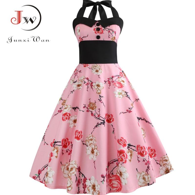 8c28a16a2e53e top 8 most popular summer vintage swing floral dress women sexy ...