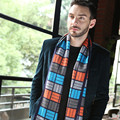 Мужчины Классический Хлопок Смесей Шарф Зима Теплая Мягкая Красочный плед Кисточкой Шаль Wrap шарф мужчин шарфы