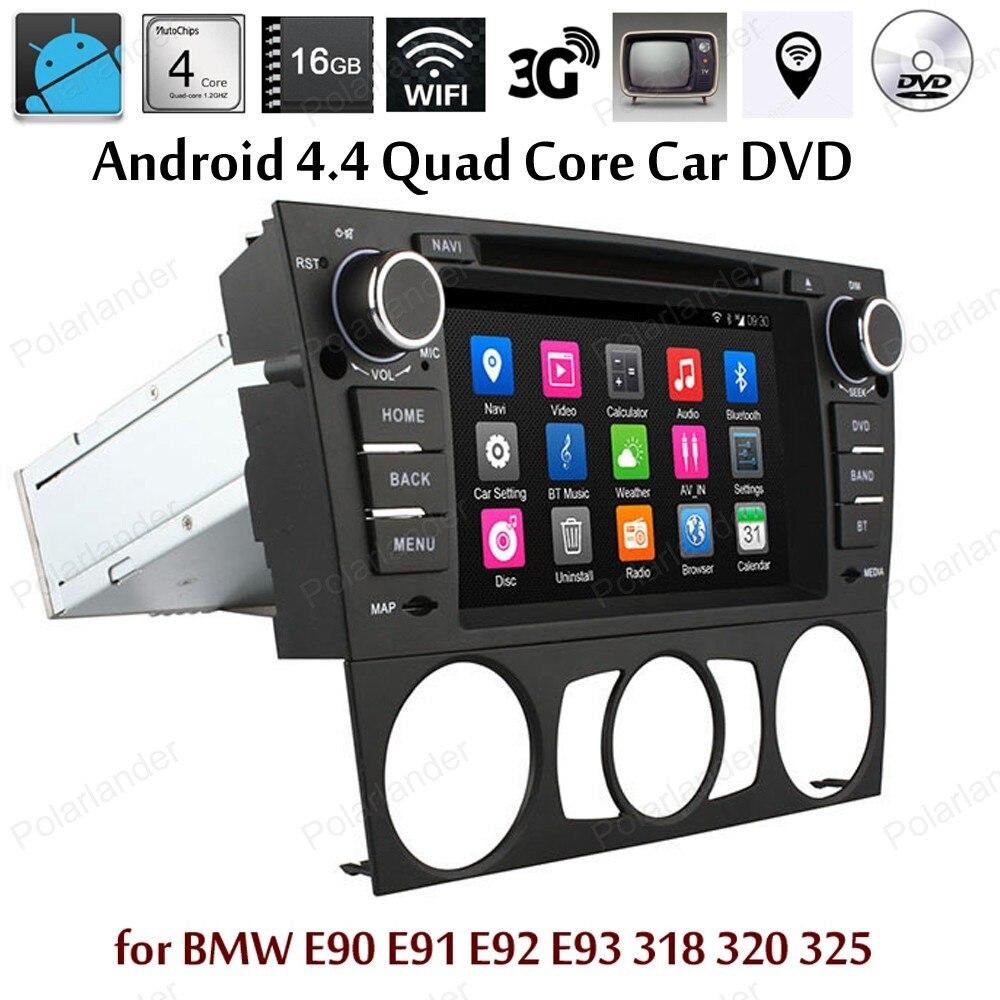 Android4.4 Support DVD de voiture DTV TPMS DAB + écran miroir GPS BT 3G WiFi pour BMW E90 E91 E92 E93 318 320 325 radio Quad Core
