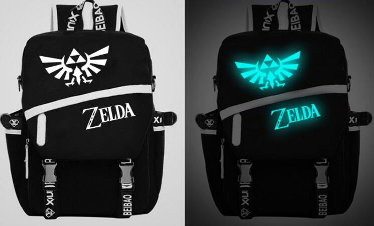 Anime Legend of Zelda SAO Fairy Tail Dark in light Luminous Satchel Backpack schoolbag Shoulder Bag Cosplay Gift цена