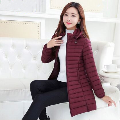 Parka   Women Winter Coats Long Cotton Casual Hooded Jackets Ladies Warm Winter   Parkas   Female Overcoat Women Coat removable hood