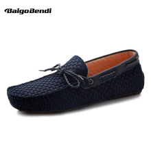 Clearance sale !! Big Size 12 Men Genuine Leather Hight End Loafers Lace Up Soft Boat Shoes Man Casual