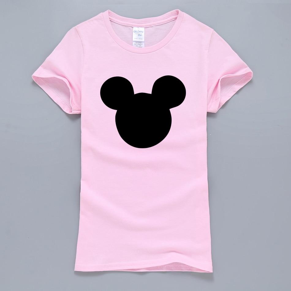 HTB1Mpv2QVXXXXcTXFXXq6xXFXXXe - 2017 New Summer Mouse Head Printed Women T-Shirt