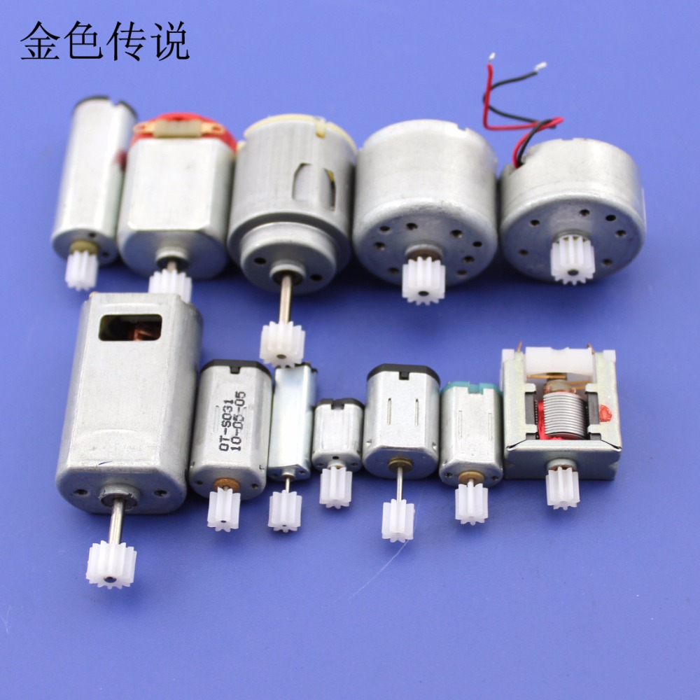 JMT Motor Gear Package 12pcs In Total DIY Model Accessories Technology Small Production Materials Micro-DC Small Motor F19220