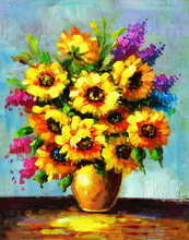 5D DIY Diamond Painting Sunflower Oil Picture Full Square New Arrival  Embroidery Flowers Mosaic Rhinestones