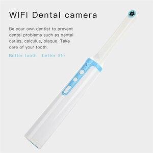 Image 2 - 1080 p hd endoscópio intraoral wifi câmera dental 8 pces led luz usb cabo de inspeção para dentista ferramenta dental de vídeo em tempo real oral