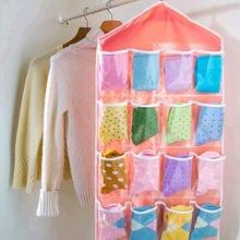 Прозрачная подвесная сумка для хранения с 16 карманами вешалка