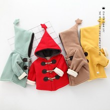 Spring Autumn Infant Cartoon Coat Wave Printed Batwing