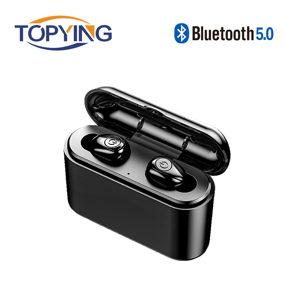 <font><b>X8</b></font> <font><b>TWS</b></font> Wireless Bluetooth 5.0 Earbuds True <font><b>5D</b></font> Stereo Mini Handsfree Waterproof Earphones with Charging Box 2200mAh Power Bank image