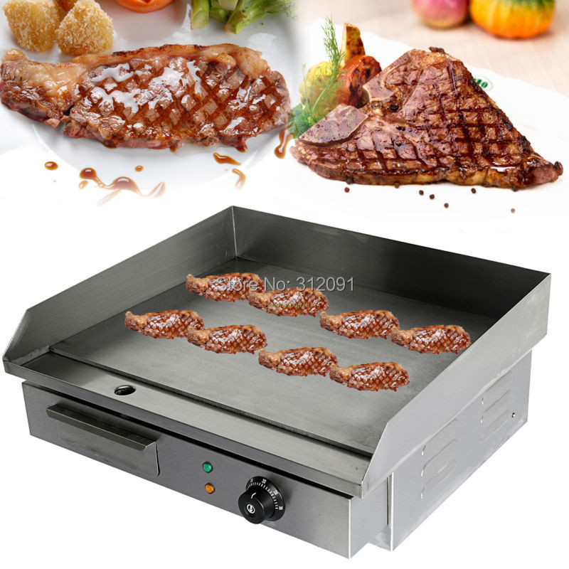 (Ship from Germany) Commercial Electric Griddle Hot Plate 55cm Countertop Grill Electric Grill Pan cheap household barbecue meat pan grill electric griddle germany stock