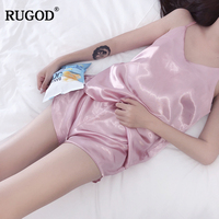 RUGOD 2019 New Arrival Casual Women 2 Piece Set Spring Summer Solid Color Pajamas Sexy Tanks and Shorts