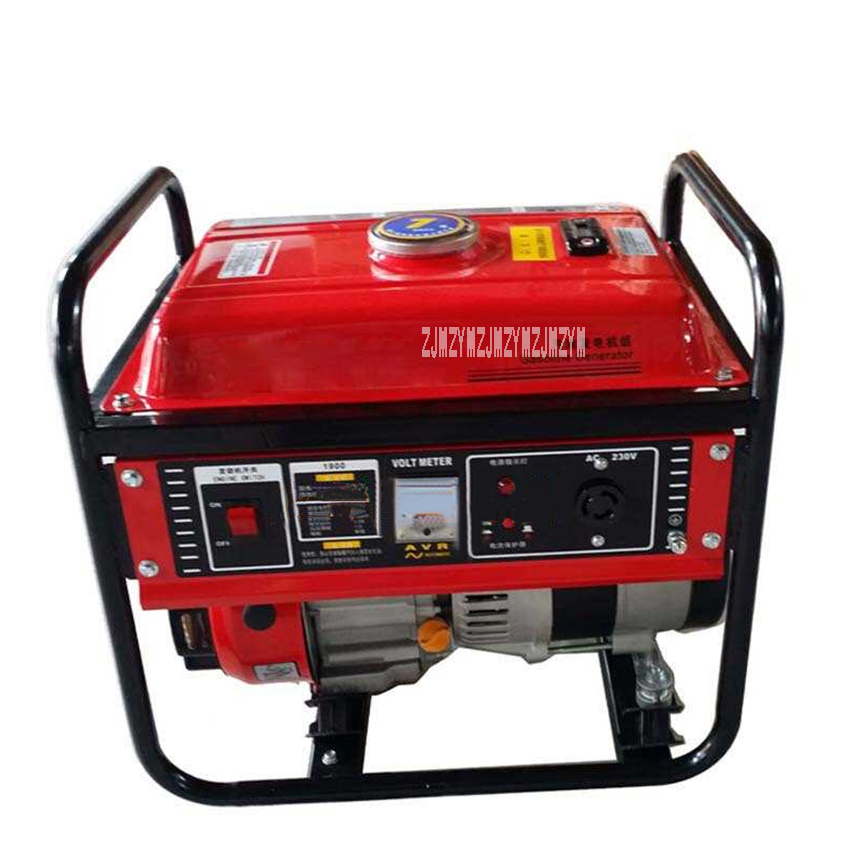 ZM1900CX 7L 1kW Gasoline Generator Set 4 stroke 154F Air cooled Gasoline Engine Portable Home Gasoline Generator 220V 3600r/min