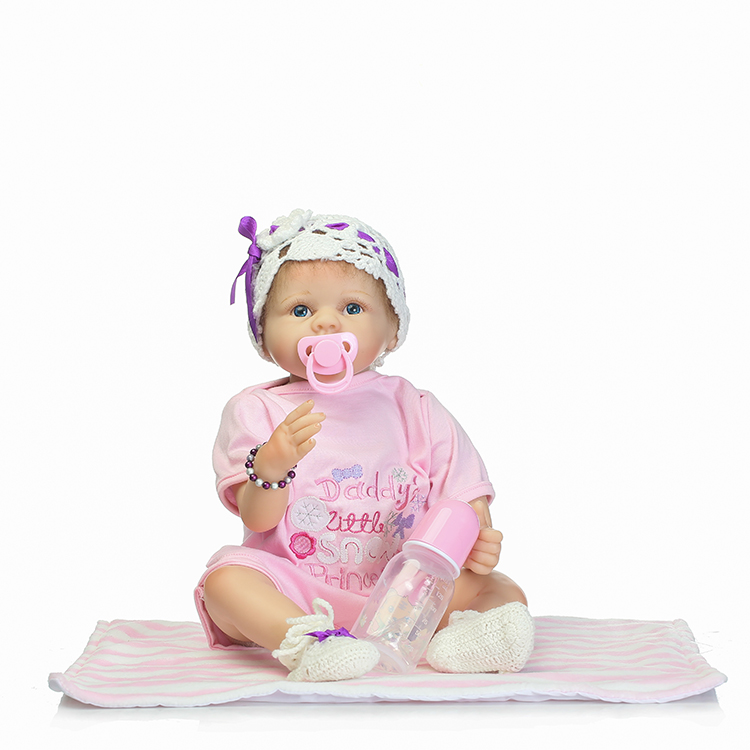 55cm Soft Silicone Reborn Babies Doll Toy For Kids NewBorn Girl Baby Birthday Gift To Child Bedtime Toy Girl Brinquedos цена