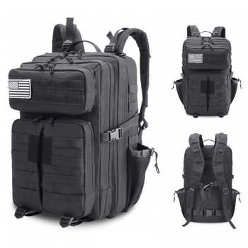 Military Tactical Backpack Bag 45L Men Male Waterproof Army Assault Attack Bagpack Outdoor Men\'s Hiking Camping Large Back Pack - DISCOUNT ITEM  45 OFF Luggage & Bags