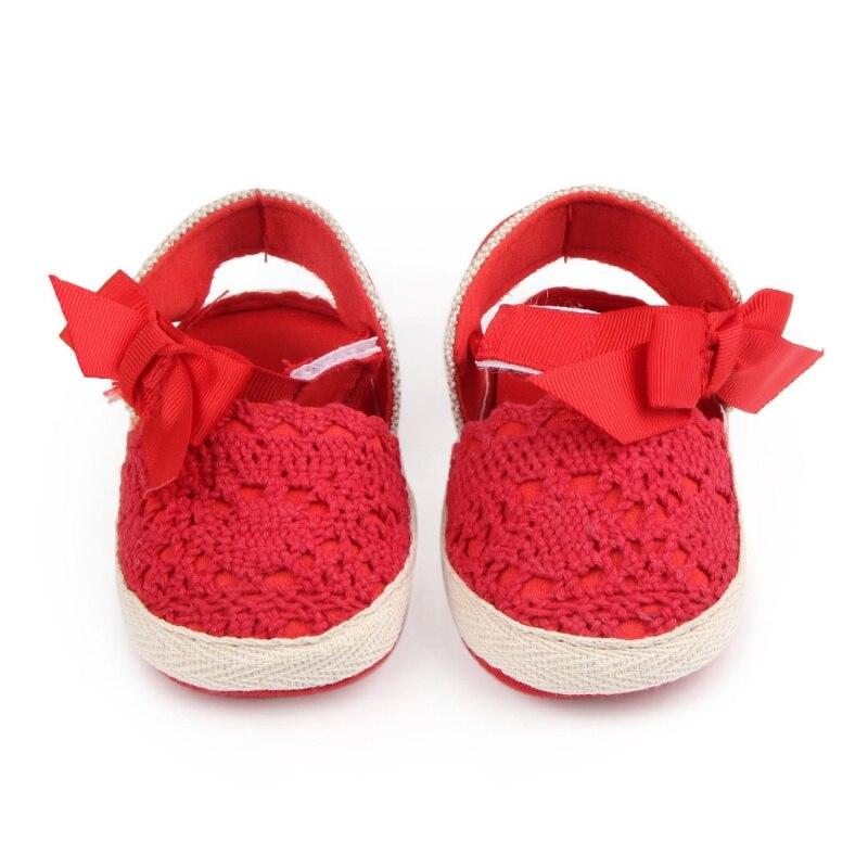 Baby Girl Newborn Shoes Spring Autumn Sweet Very Light Mary Jane Big Bow Knitted Dance Ballerina Dress Pram Crib Shoe Hot
