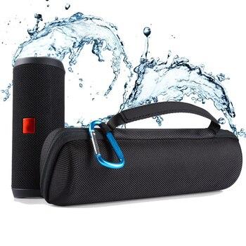 Colonne de voyage housse de étui à haut-parleur pour JBL Flip 4 haut-parleurs Bluetooth sans fil Flip4 Soundbox sac de rangement pochette avec mousqueton