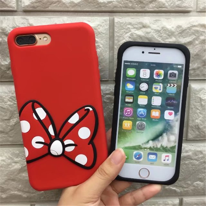 Cute Cartoon Mickey Minnie Mouse Coque Soft Silicone Phone Case For Huawei P8 P9 lite P10 lite plus Mate 7 8 9 10 Cover Fundas