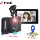 "Podofo 7"" Car DVR GPS Navigation Radar Detector Android WIFI FM Touch Screen Dash Cam Tablet PC Car Video Recorder Registrar"
